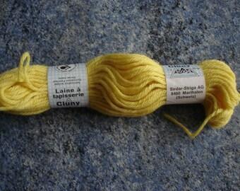 échevette VINTAGE jaune CLUNY laine tapisserie 20 grammes jamais utilisée
