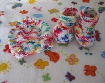baby set Hat + booties