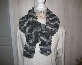 Scarf woman wool Velvet 'snowflake'