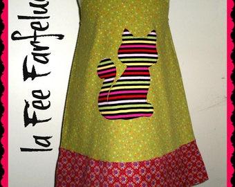 AGATHA 4 to 10 lime green velvet dress