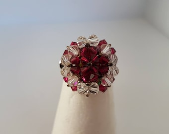 Swarovski crystals and pearls of Bohemian ring