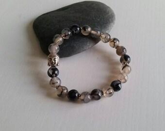 (Beads 8 mm) dragon Agate bracelet