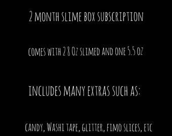 2 Month Slime Box Subscription