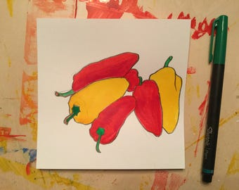 Sweet Peppers No. 4    5 X 5