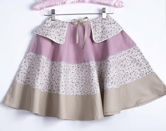 Skirt flying + scrunchie chic girl was romantic pink flowers wedding ceremony