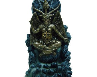 Baphomet Backflow Incense Burner - baphomet occult blackmagic witch lucifer gothic pagan altar sabbath