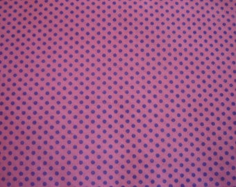 PATCHWORK cotton fabric pink & purple ¤ 50 X 57 CM