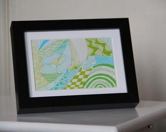 decorative frame for child version to order boy's room
