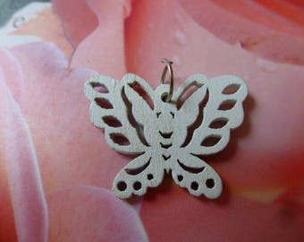 white wooden ring for charm Butterfly