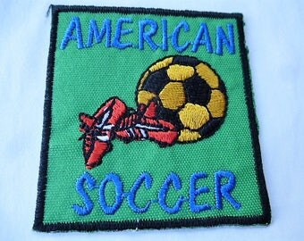 applique american soccer 9022.5 Green vintage patch, badge for customization sewing craft or sewing