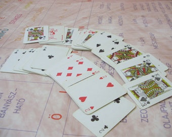 Vintage poker cards,54 pieces ,Playing Cards ,mini cards