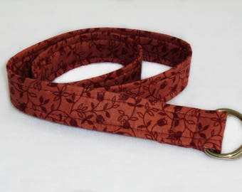 burgundy vine adjustable toddler belt