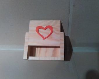 "Box: Pretty little box ""Lovers"" fir wood"