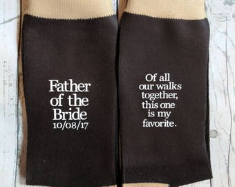 Father of the bride socks, father of the bride shirt, father of the bride gift, wedding party gift.