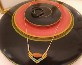 BIARRTIZ - Micromacrame fine necklace