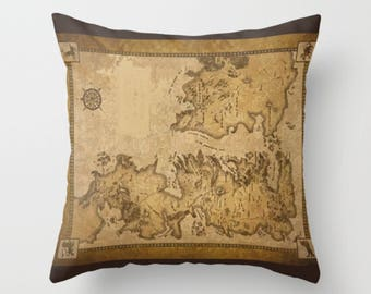 Game of trones Pillow, tv series, Maps, Winter is coming, Geek Pillow, Throw Pillow Cover, Kid Deco, home decor