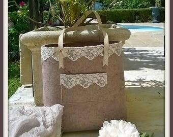 Vintage pink felt bag