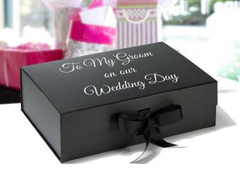 A5 Deep  Grooms Gift Box - Grooms Wedding Day Gift - Gift for my Groom - Empty Grooms Box,husband gift,wedding present box -
