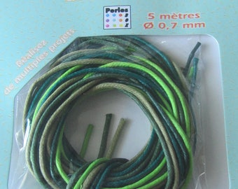 Shades of 5 cotton laces - 5 x 1 meter for multiple projects
