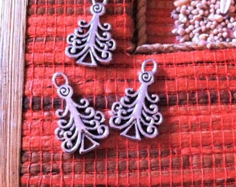 older 6 shape tree branches wrapped, silver pendants