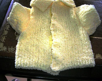 Curly wool coat with sleeves for small dogs