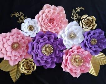 Paper Flower Backdrop, Baby Shower Backdrop, Princess Theme Birthday Decor,  Wedding Backdrop,