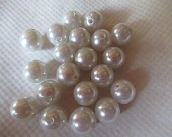 set of 55 beads round balls gray perle1.8 cm jewelry creations