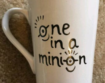 One in a minion|minion|movie|gift| coffee cup