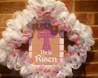 Easter welcome wreath