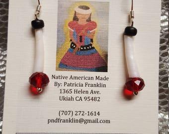 Dwntalia and glass beaded earrings