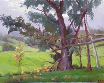 wall art, Original oil painting// Maui upcountry art//Kula // landscape painting// impressionism