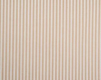 Coupon fabric beige sand stripes white 0.80 m x 1.50 m