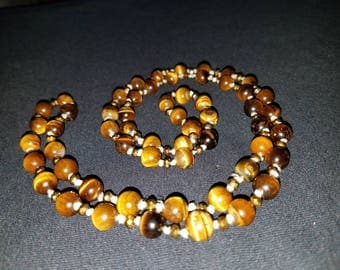 35 in. Genuine Tigers Eye Necklace