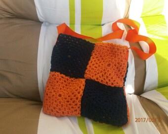 bandouillière retro crochet purse