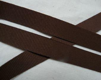 Ribbon grosgrain Ribbon 15mm Brown