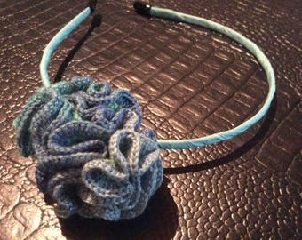 Headband with crochet tassel
