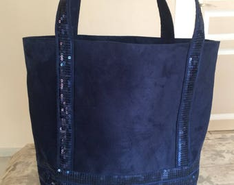 has sequins and toile tote bag