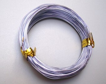 5 meter 1 mm Silver Blue aluminum wire.
