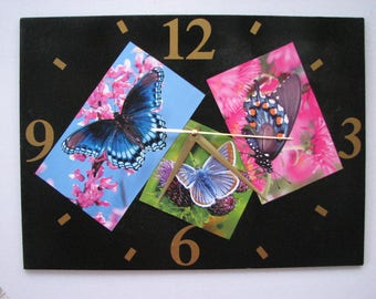 Clock / wall clock in Slate: butterflies