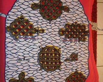 Apron handmade African wax print
