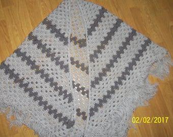 woman shawl knit handmade