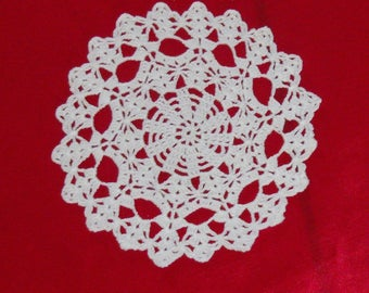Doily scales made vintage white cotton