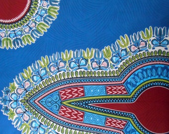 DASHIKI genuine coupon rouge(pagne africain) 80 cm x114cm wax fabric
