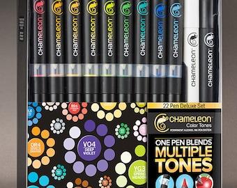 Chameleon Colour Tone Markers 22 Deluxe Pen Set
