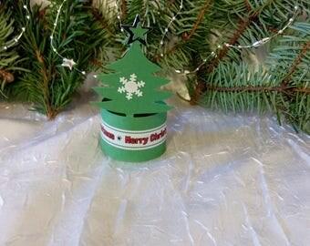 "Napkin ring tree Christmas deco ""set of 10"""
