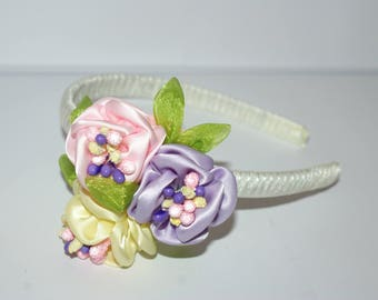 kanzashi - headband + gift box