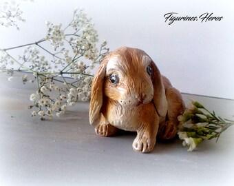 Aries clay rabbit figurine