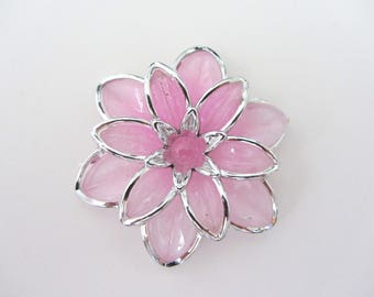 flower beads,pink flower beads, connector,connector flower,beads acrylic,flower acrylic, jewelry making
