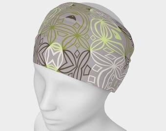 "Yoga Headband Headband, Fitness Headband, Workout Headband Wide Headband, Headband Gym Gear, Fashion Headband, ""Blue Ripples Nuggets"""