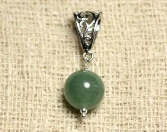 Gemstone - Aventurine Green 12 mm pendant